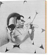 Dizzy Gillespie (1917-1993) Wood Print
