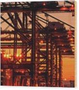 Docks Wood Print