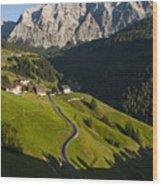 Dolomiti Landscape Wood Print