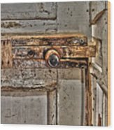 Door Latch Wood Print