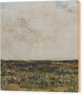 Dorset Landscape Wood Print