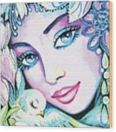 Dove Fairy Wood Print