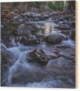 Down River Wood Print