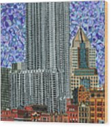 Downtown Pittsburgh - View From Smithfield Street Bridge Wood Print
