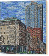 Downtown Raleigh - Fayetteville Street Wood Print