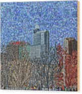 Downtown Raleigh - View From Chavis Park Wood Print