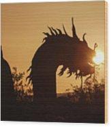 Dragon At Dawn Wood Print