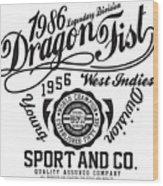 Dragon Fist 1986 Wood Print