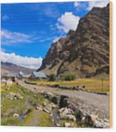 Drass Village Kargil Ladakh Jammu And Kashmir India Wood Print