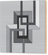 Drawn2shapes2bnw Wood Print