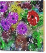 Dream Garden II Wood Print