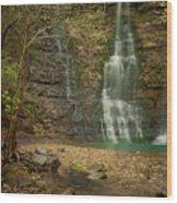 Dreamy Waterfalls Wood Print