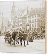 Dresden, Altmarkt Square, Germany, 1903 Wood Print