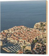 Dubrovnik And The Adriatic Coast In Croatia Wood Print