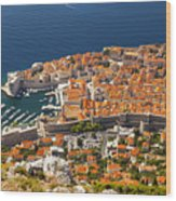 Dubrovnik Old Town From Above Wood Print