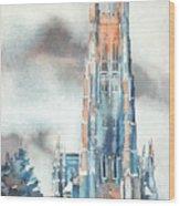 Duke University Chapel Wood Print