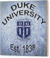 Duke University Est 1838 Wood Print