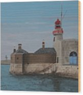 Dun Laoghaire Lighthouse Wood Print