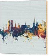 Dundee Scotland Skyline Wood Print