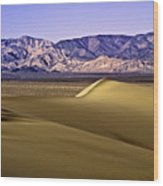 Dunes And Mountains Three Wood Print