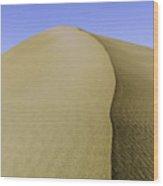 Dunes Three Wood Print