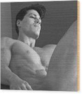 Dwain Leland In The Chair Wood Print