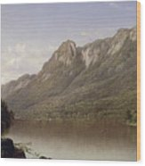 Eagle Cliff At Franconia Notch In New Hampshire Wood Print