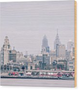 Early Morning Sunrise Over Philadelphia Pennsylvania Wood Print