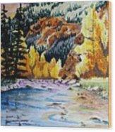 East Clear Creek Wood Print
