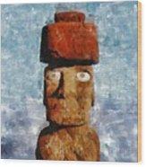 Easter Island Wood Print