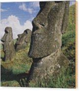 Easter Island Moai Wood Print