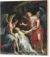 Ecstasy Of Mary Magdalene Wood Print