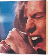 Eddie Vedder Wood Print by Gordon Dean II
