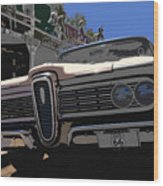 Edsel On Route 66 Wood Print
