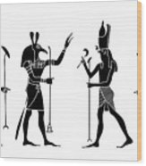 Egyptian Gods Wood Print