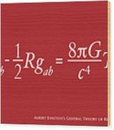 Einstein Theory Of Relativity Wood Print by Michael Tompsett