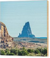 El Capitan Peak Just North Of Kayenta Arizona In Monument Valley Wood Print