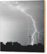 Electricity Vs Electricity-signed Wood Print