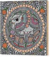 Elephants 1a Wood Print