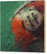 Eleven Ball Billiards Abstract Wood Print
