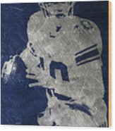 Eli Manning Giants Wood Print