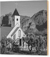 Elvis Chapel Arizona Wood Print