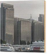 Embarcadero Center Buildings In San Francisco, California Wood Print
