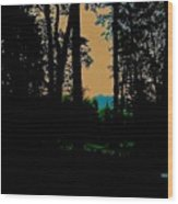 Emerald Mountain Wood Print