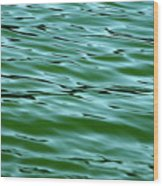 Emerald Sea Wood Print