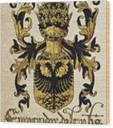 Emperor Of Germany Coat Of Arms - Livro Do Armeiro-mor Wood Print