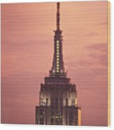 Empire State Building Wood Print