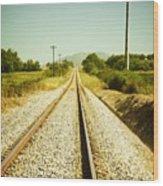 Empty Railway Wood Print