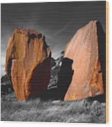 Enchanted Rock Megaliths Wood Print