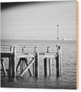 End Of The Pier Wood Print